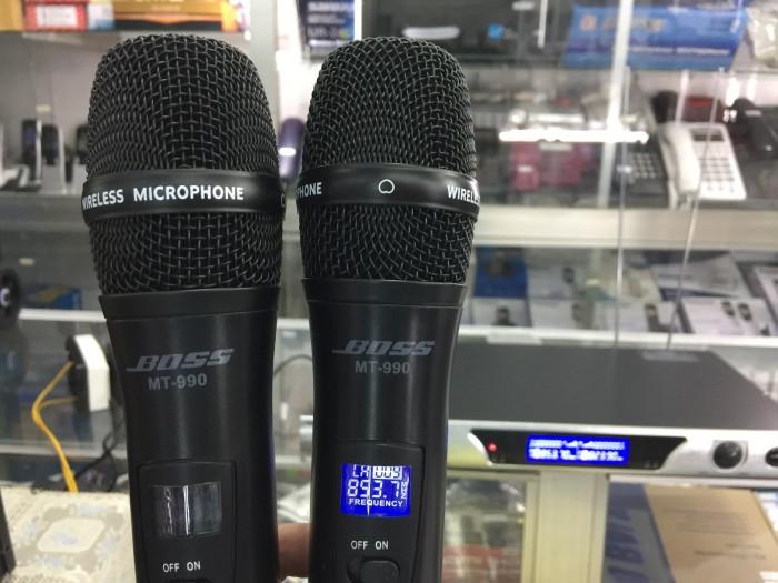 Micro không dây chính hãng BOSS MT-990 Thiết kế toàn màu đen truyền thống4