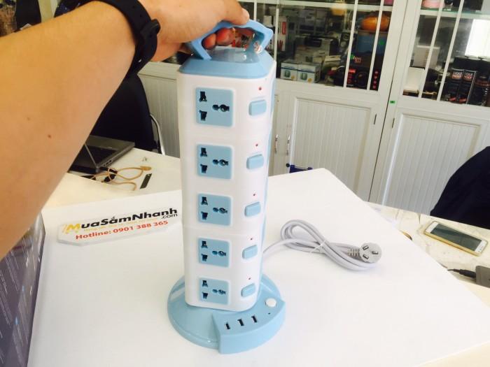 Ổ cắm điện đa năng đươc thiết kế thông minh với 5 tầng dạng tháp đẹp mắt. Tích hợp 20 ổ cắm đa năng hỗ trợ 6 loại phích cắm khác nhau0