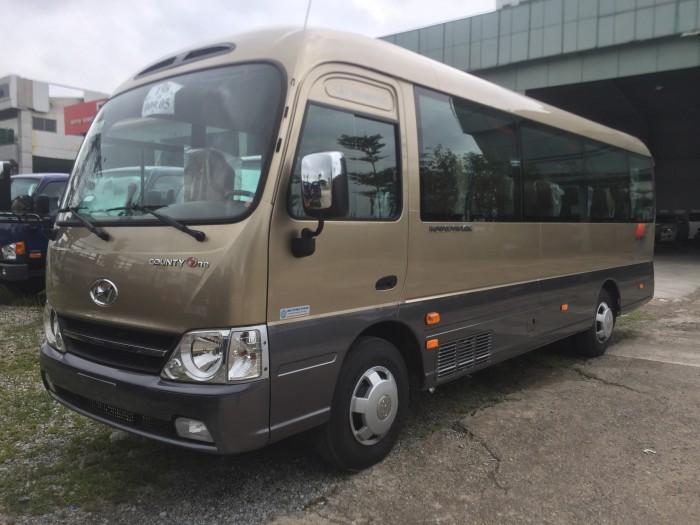 Xe khách 29 chỗ Hyundai County One thân dài Đồng Vàng 2017 1