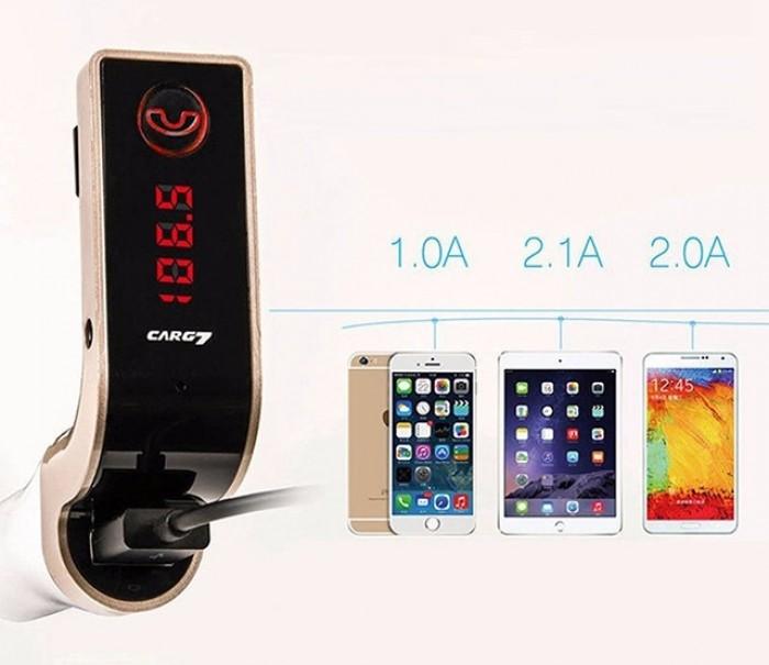 CARG7 Bluetooth Car Kit có phạm vi điện áp hoạt động, điện áp giới hạn cũng như dòng điện đầu ra linh hoạt, phù hợp với nhiều thiết bị di động khác nhau.