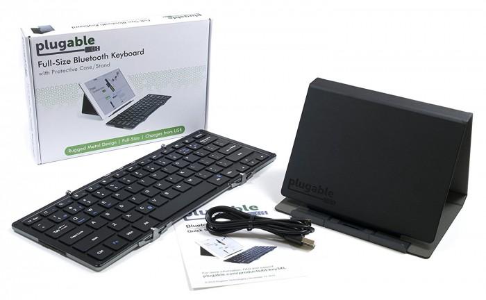 Bàn phím gập mini không dây Plugable Bluetooth Folding Keyboard3