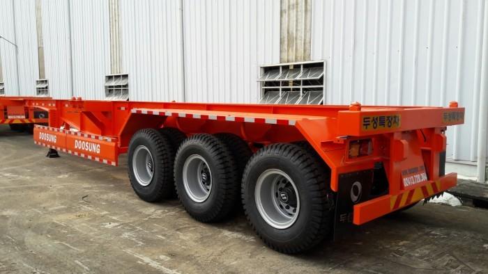 Đại lý bán Xương cổ cò (chở xe, máy chuyên dùng), 3 trục, 31.5 tấn,45Feet mới 100%.giá rẻ,giao ngay.