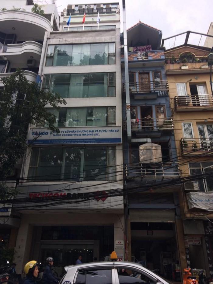 Bán nhà mặt phố quận Hoàn Kiếm, DT 123m2 x 8 tầng, MT 6m giá 75 tỷ.