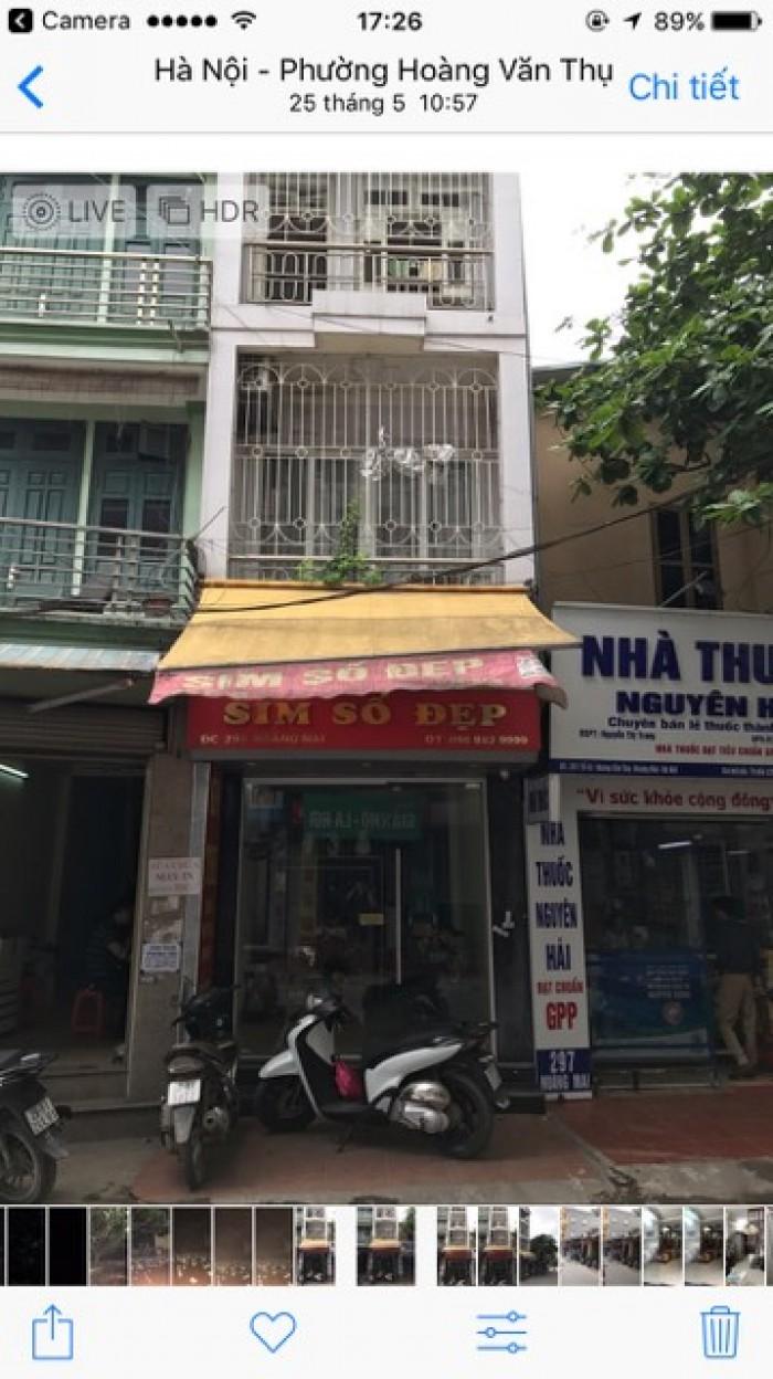 Nhà bán Hoàng Mai, kinh doanh, oto đổ cửa