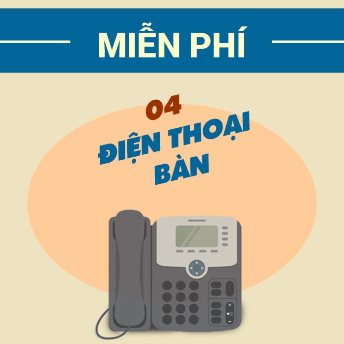 Chương trình KM tháng 9, tặng 4 điện thoại IP Phone khi đăng kí gói dịch vụ Business