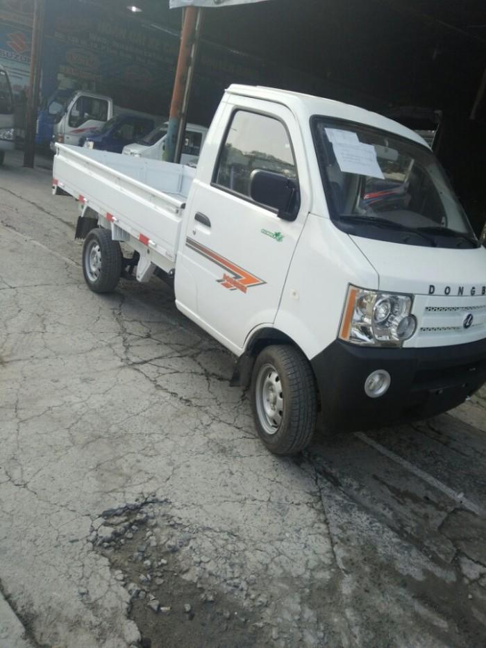 Bán xe Dongben DB201 800kg, thùng lửng màu trắng