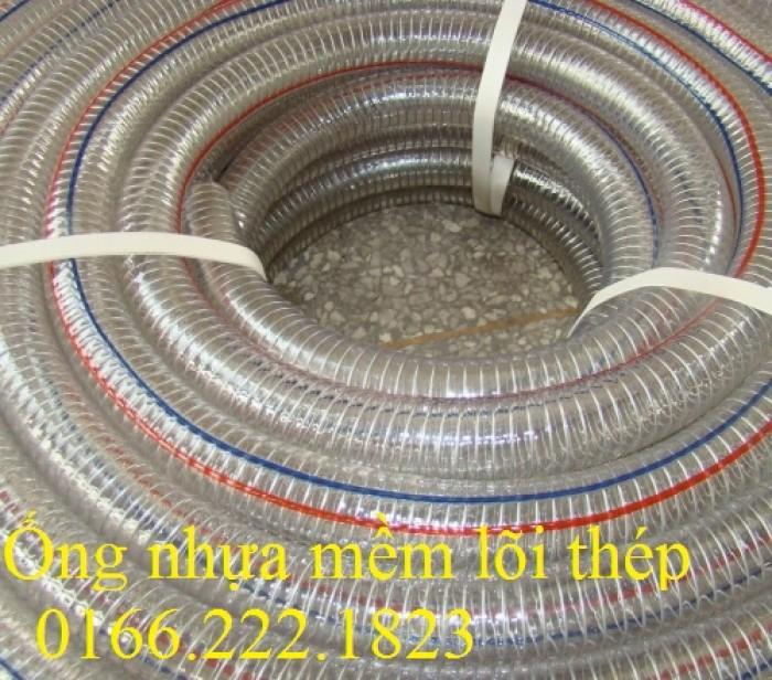 Ống nhựa mềm lõi thép nhựa dẻo PVC Hàn Quốc0