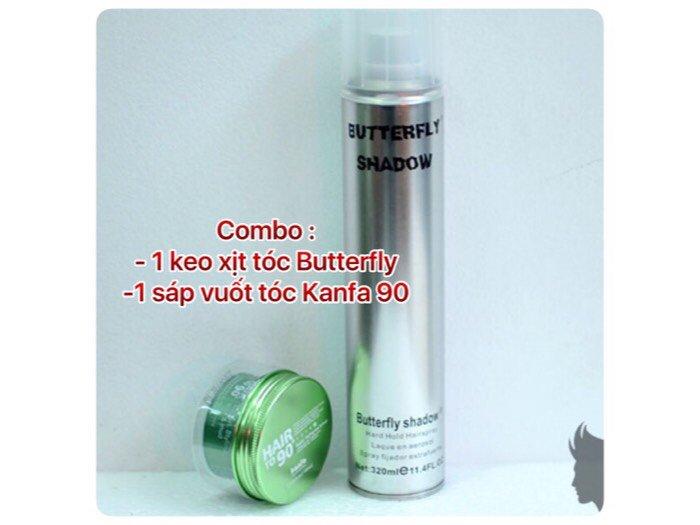 Combo Keo Xịt Tóc Butterfly Shadow Và Sáp Vuốt Tóc Nam Kanfa 900
