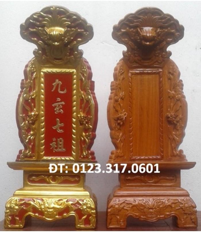 Bài vị thờ ở chùa, bài vị thờ gia tiên, bài vị gỗ2