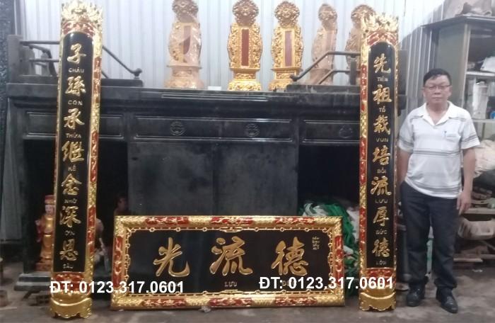 Bài vị thờ ở chùa, bài vị thờ gia tiên, bài vị gỗ4