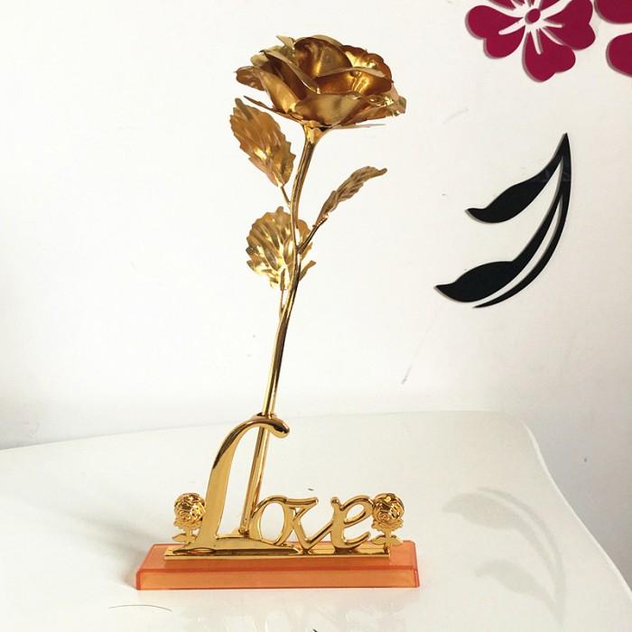 Hoa Hồng 3D Mạ Vàng LOVE2