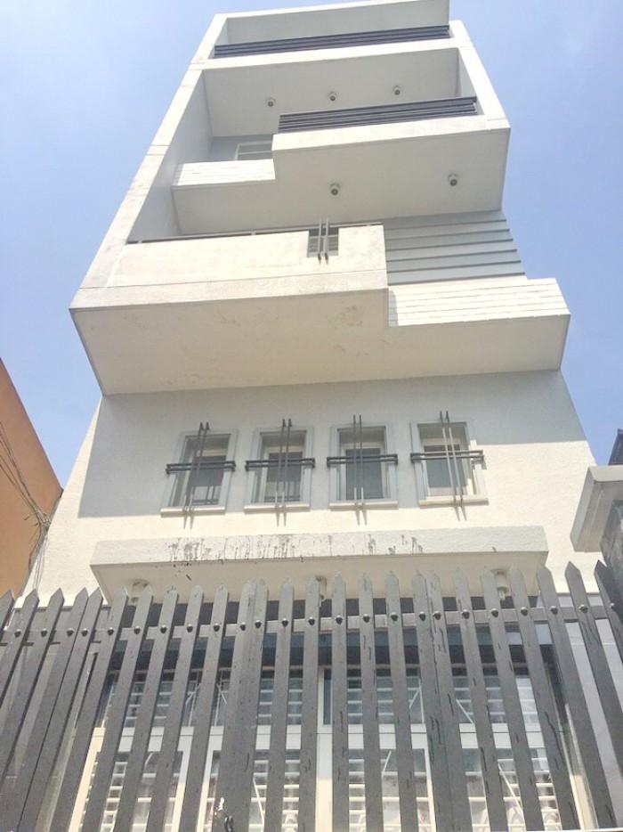 Bán toà nhà lô góc 2 mặt tiền đường số Phạm Hữu Lầu, Quận 7, DT 5x17m.
