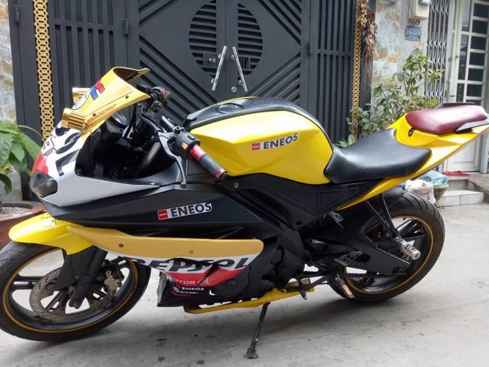 Cần bán lại xe moto visitor phoenix 175c 2k12 mẫu thể thao phong cách .màu vàng đen như hình 2 thắng đĩa. 3