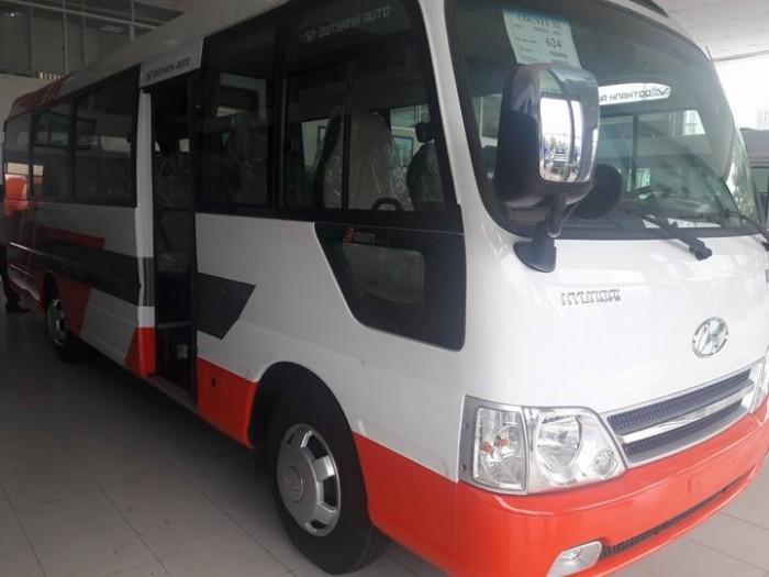 Xe khách 29 chỗ hyundai county - xe hyundai county 29 chỗ giao xe ngay