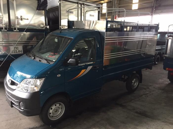 Bán xe tải Thaco Towner990 990 kg mới 2017, Hỗ trợ trả góp , máy xăng phun xăng điện tử đa điểm.