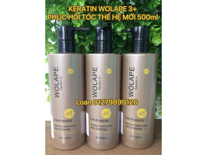 Keratin Và Collagen Wolape Ht 3+ New Phục Hồi Tóc Chắc Khỏe Siêu Mèm Mượt Mẫu Mới Keratin Wolape 500ml0