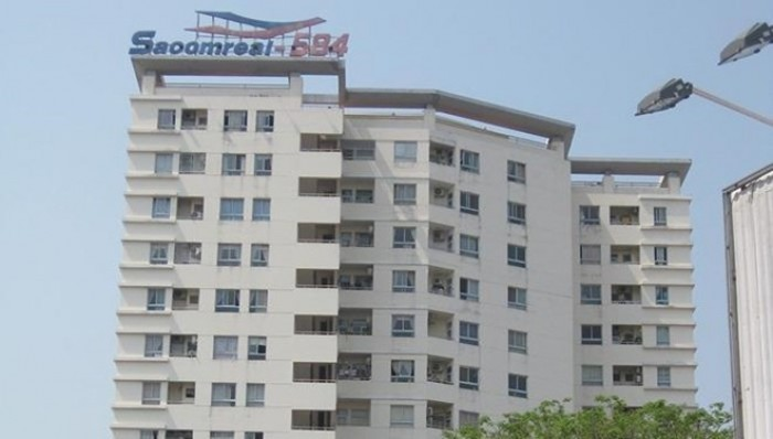 Cần bán gấp căn hộ Sacomreal 584 Quận Tân Phú, Dt 76m2, 2 phòng ngủ, nhà rộng thoáng mát, sổ hồng