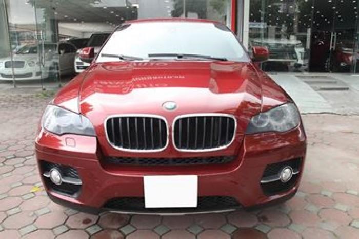 BMW X6 Model 2009. Màu đỏ nội thất kem đăng ký chính chủ cá nhân biển Hà Nội 0