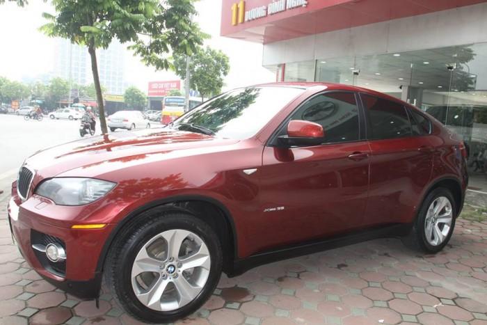 BMW X6 Model 2009. Màu đỏ nội thất kem đăng ký chính chủ cá nhân biển Hà Nội 1