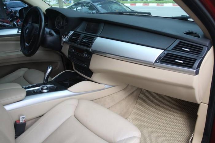 BMW X6 Model 2009. Màu đỏ nội thất kem đăng ký chính chủ cá nhân biển Hà Nội 13