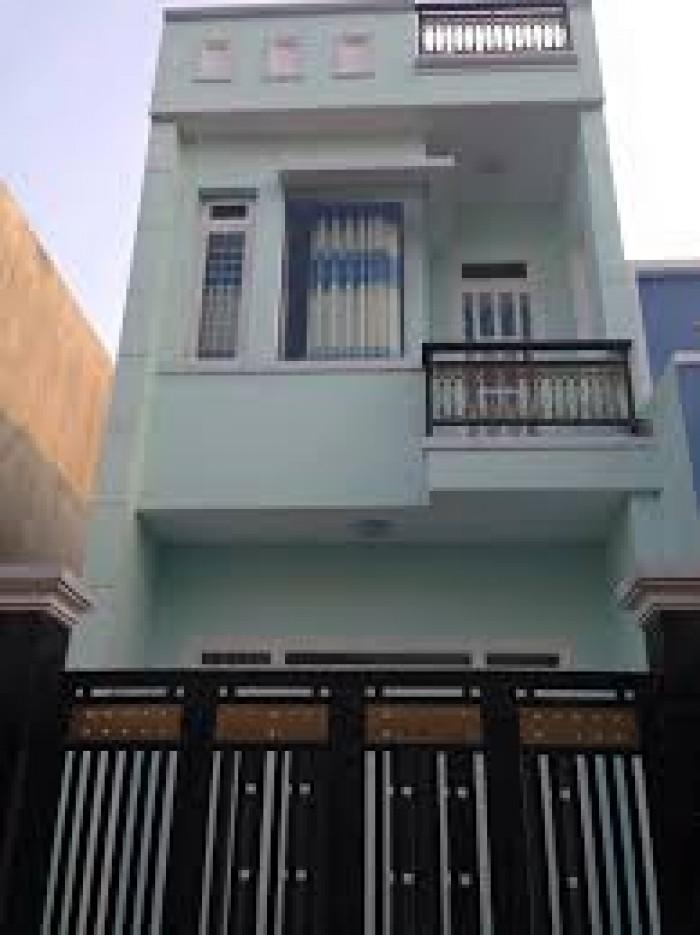 Nhà Bình Chánh, nhà mới 100%, SHR, 1 trệt 1 lầu, Hỗ trợ vay.