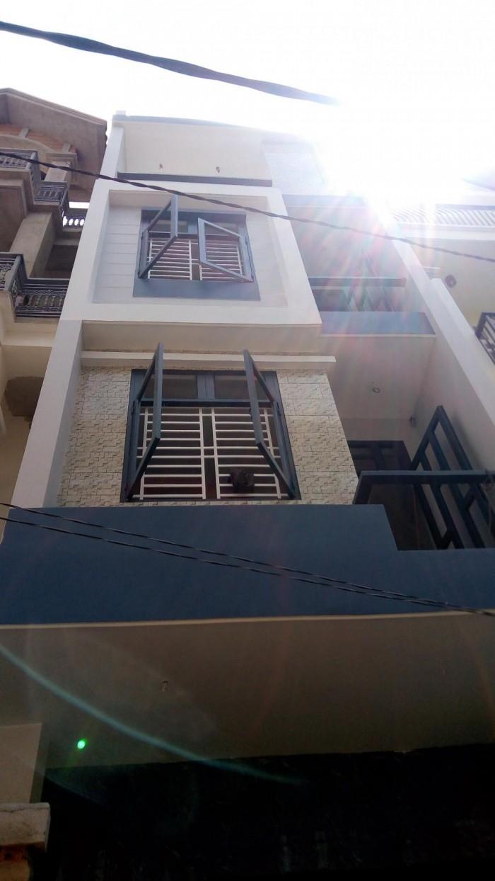 Nhà mới đường xe hơi 4x14m Phở Ao Sen KDC Hồng Long, Hiệp Bình Phước