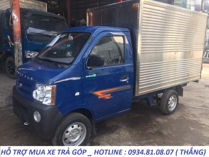 Xe tải nhỏ Dongben 870kg thùng mui bạt, thùng kín, thùng lửng trả góp.