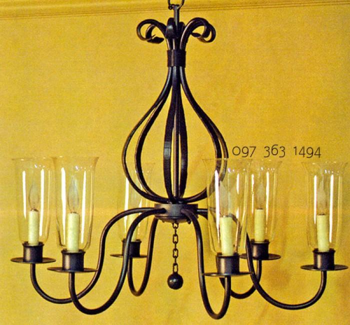 Đèn chùm sắt trang trí cổ điển sang trọng từng ngõ ngách0
