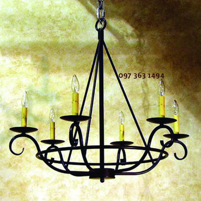 Xưởng chuyên sản xuất đèn chùm sắt Châu Âu cực đẹp