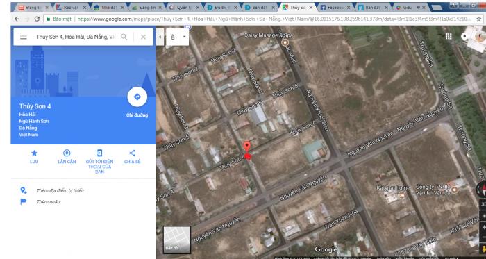 Bán lô đất chính chủ khu vực Ngũ Hành Sơn- Đà Nẵng