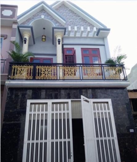 Nhà mới 100% khu vip ngay mặt tiền hương lộ 80, 4x15,5m, 1 lầu