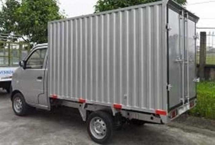 Xe tải DONGBEN thùng kín, màu xám, 870kg