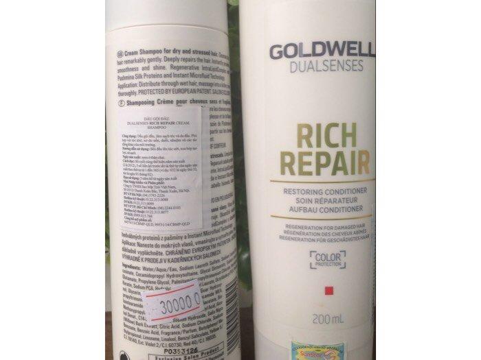 Cặp Dầu Gội Xả Phục Hồi Tóc Hư Tổn Khô Xơ Goldwell Rich Repair 250ml x 22