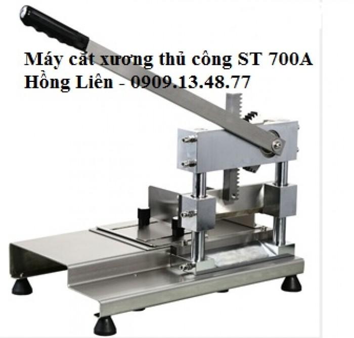 Máy chặt xương giò heo bán bún bò, máy cắt xương heo, xương sườn, xương gà thủ công ST700A0