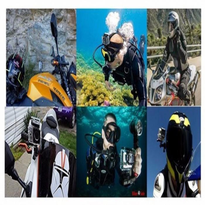 Camera hành trình SJ5600-4K vẫn được trang bị lớp vỏ bảo vệ chống thấm nước ở độ sâu tới 30m, điều này giúp cho người dùng thoải mái sử dụng camera ngay cả trong điều kiện mưa hay tắm biển, chơi các môn thể thao dưới nước.