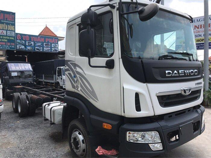 Xe tải daewoo 3 chân rút tải trong 15,5t mui bạt