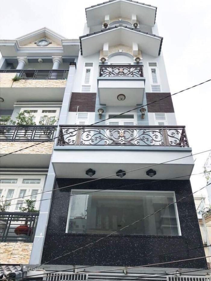 Bán nhà lầu cao cấp hẻm 347 Lê Văn Thọ, phường 9, quận Gò Vấp, 4 x 17m, 1 Trệt + 1 lửng, 3 Lầu, giá 5,6 tỷ