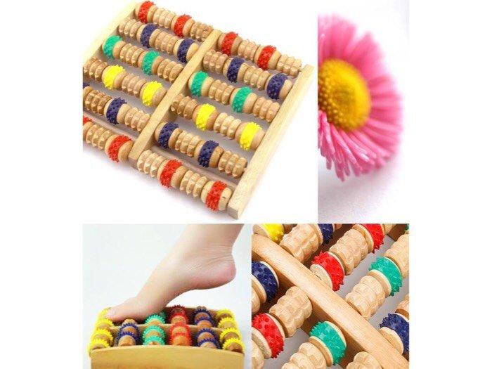 Massage chân bấm huyệt bằng gỗ tự nhiên