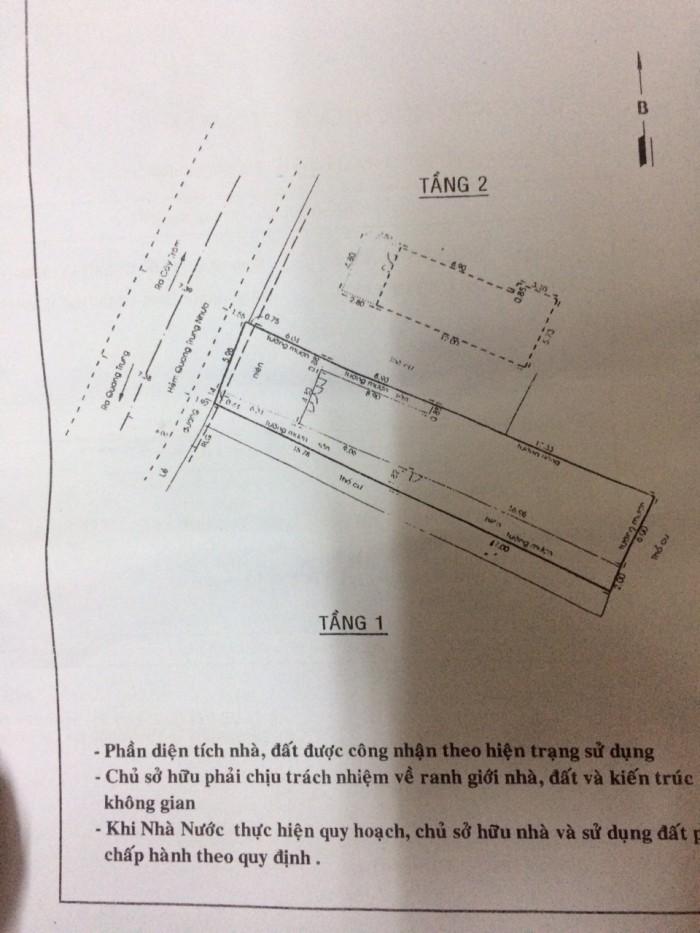 Bán nhà mặt tiền đường số 21, phường 8, quận Gò Vấp, 7,1 x 33m, 1 Trệt + 1 Lầu