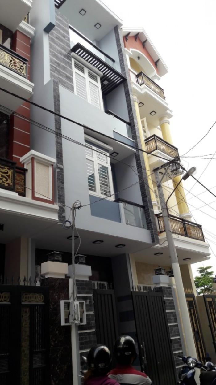 Bán nhà phố  1 trệt 2 lầu 1 tum khu biệt thự cao cấp đường 25 cách Phạm Văn Đồng 200m
