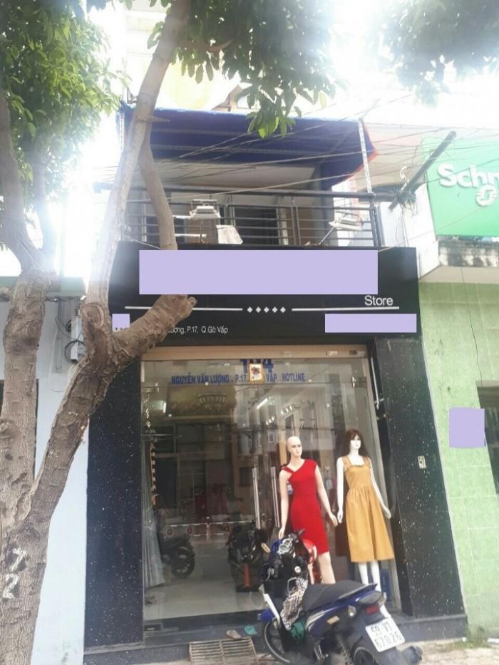 Bán nhà mặt tiền đường Nguyễn Văn Lượng, phường 17, quận Gò Vấp, 3,8 x 23m, 1 Trệt + 2 Lầu