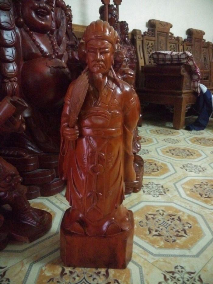 Tượng Khổng Minh Gỗ Xà Cừ3
