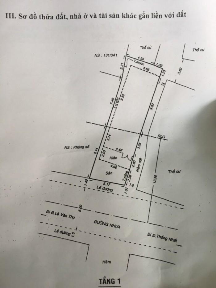 Bán nhà mặt tiền đường số 8, phường 11, quận Gò Vấp, 5,2 x 19m, cấp 4
