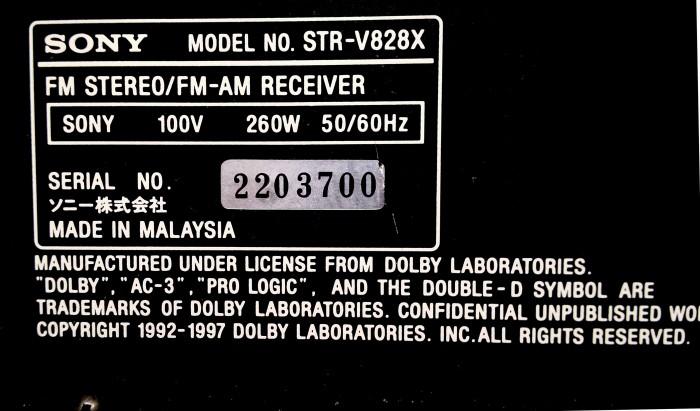 Amply Sony STR V828X3