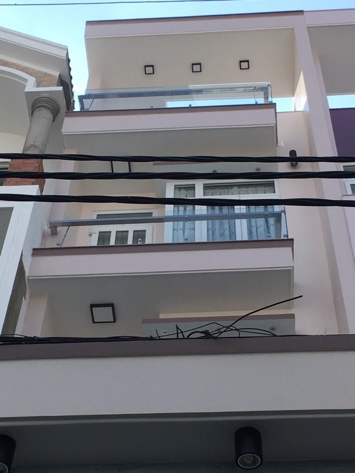 Bán nhà lầu cao cấp mặt tiền đường số 20, phường 8, quận Gò Vấp, 4 x 20,5m, 1 Trệt + 1 lửng, 3 Lầu, giá 6,2 tỷ