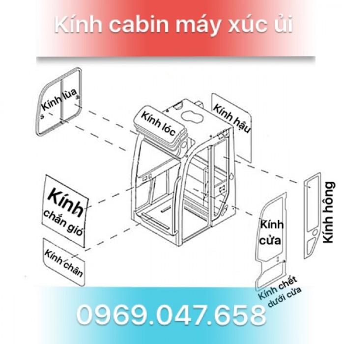 Kính máy xúc - Kính máy ủi - Kính xe công trình 3