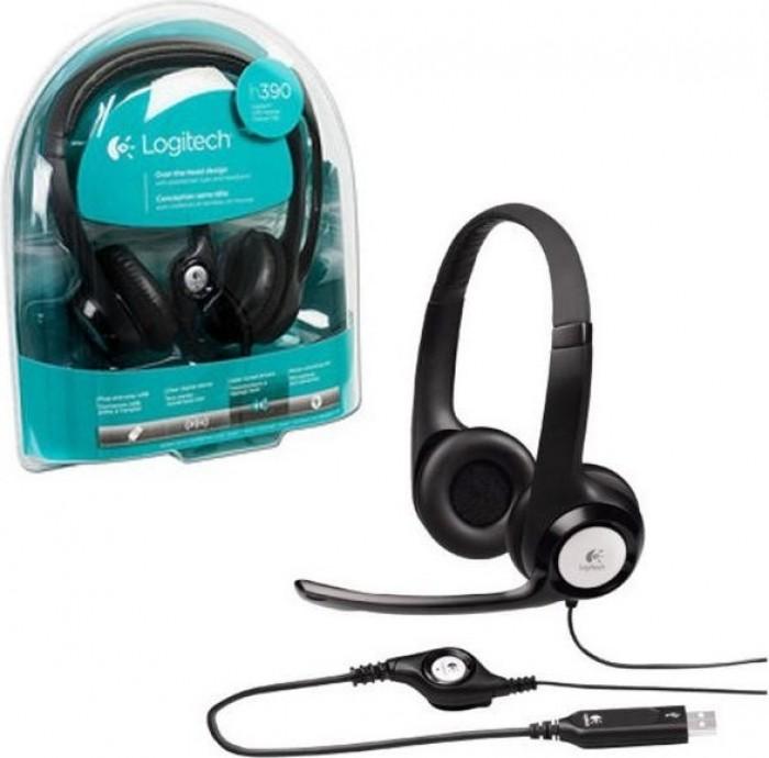 Tai Nghe Headphone Logitech Headset H390 Tích Hơp Mic, Điều chỉnh âm lượng - MSN181283