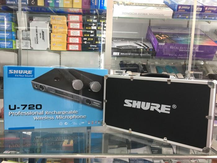 Micro không dây Shure sạc U720 có tặng theo vali đựng trọn bộ micro4