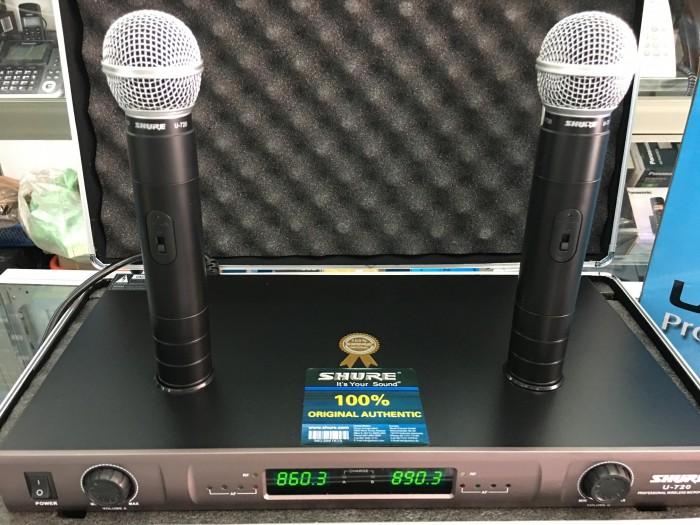 Micro không dây Shure sạc U720 bộ 2 micro cắm sạc trực tiếp trên đầu thu sóng5