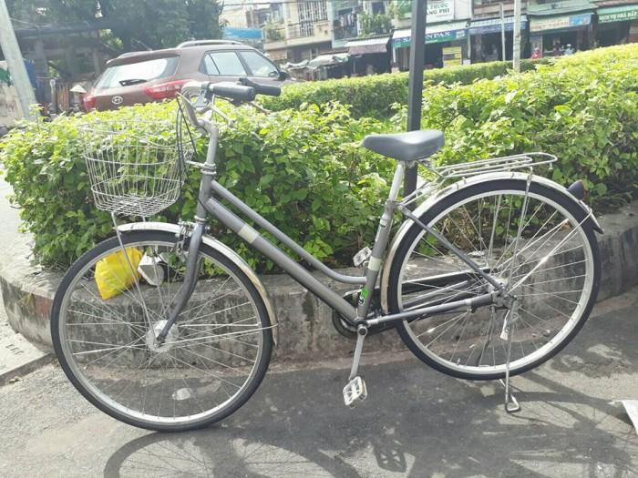 Xe đạp mini Nhật màu xám